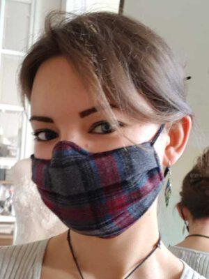 Alltagsmaske Schotten-Karo